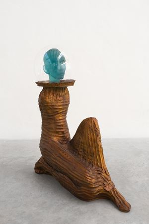 Seated Astronaut II (copper) by Jean-Marie Appriou contemporary artwork