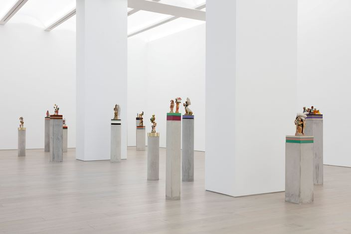 Exhibition view: Bharti Kher, The Unexpected Freedom of Chaos,Perrotin, New York (9 July–14 August 2020). Courtesy the artist and Perrotin. Photo: Guillaume Ziccarelli.