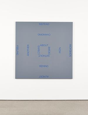 Blue Cross by Robert Barry contemporary artwork