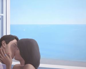 Kiss at Window 2 by Ridley Howard contemporary artwork
