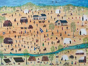 Ballarat, My Country by Marlene Gilson contemporary artwork painting