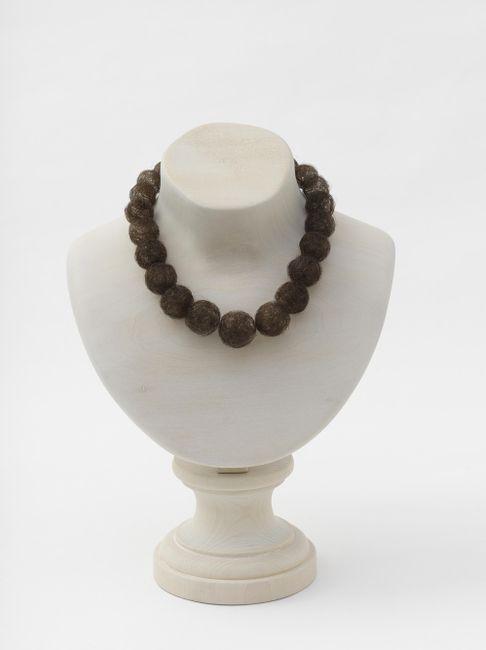Hair Necklace (wood) by Mona Hatoum contemporary artwork