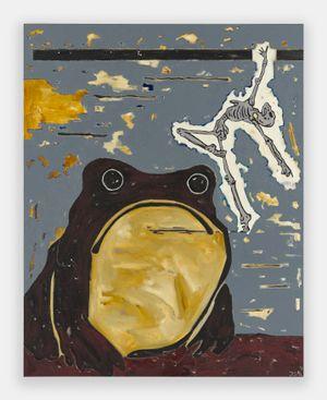 Death and the Toad (Der Tod und die Kröte) by Werner Büttner contemporary artwork painting