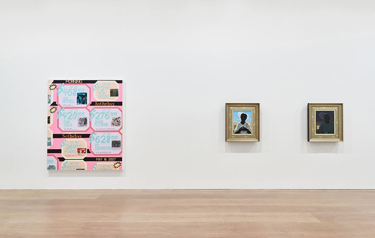 Exhibition view:Kerry James Marshall, Kerry James Marshall: History of Painting, David Zwirner, London (3 October–10 November 2018). Courtesy David Zwirner.