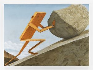 Plankboy (Sisyphus) by Sean Landers contemporary artwork