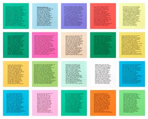 20 Inflammatory Essays by Jenny Holzer contemporary artwork
