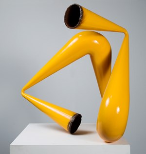 Yellow Pipe Compression by James Angus contemporary artwork