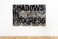 untitled 2020 (shadows in progress) (map, 1962-63) by Rirkrit Tiravanija contemporary artwork textile
