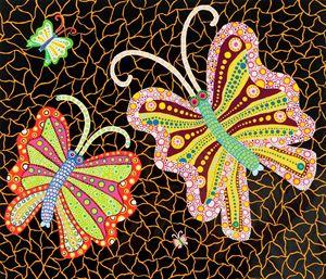 Butterflies by Yayoi Kusama contemporary artwork