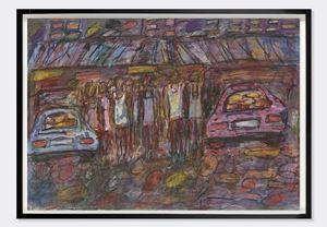Women and Cars by David Koloane contemporary artwork