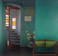 Home (Wall I) by Abir Karmakar contemporary artwork painting