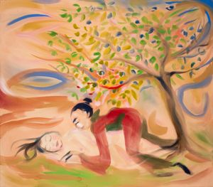Under the Apple Suckling Tree by Sophie von Hellermann contemporary artwork