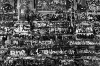 Study of Robert E. Lee Monument Graffiti, for George Floyd; Richmond, Virginia, 2020 by Robert Longo contemporary artwork painting, drawing