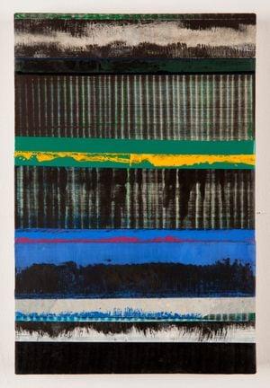 Los azules perdidos by Juan Uslé contemporary artwork