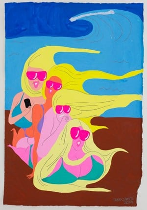 bff beach by Todd James contemporary artwork
