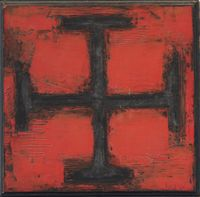 La Croix by S.H. Raza contemporary artwork painting, works on paper