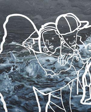The call by Abdul Abdullah contemporary artwork