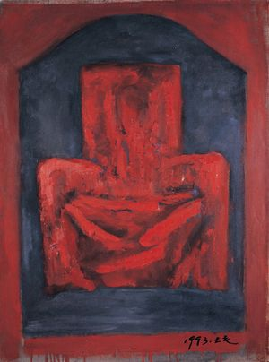The Red Seat for Parent by Mao Xuhui contemporary artwork