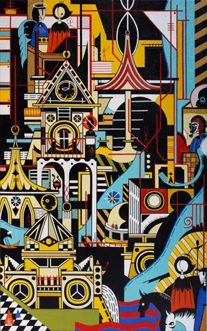 The Ballad of Space Garden I by Nisky Yu contemporary artwork