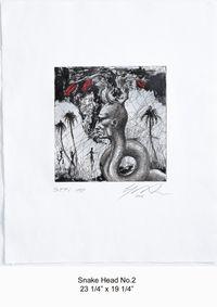 Snake Head No.2 by Ashley Bickerton contemporary artwork print