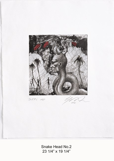 Snake Head No.2 by Ashley Bickerton contemporary artwork