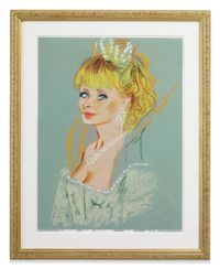 the elven Queen - Esmeralda (part of Bewitched family) by Karen Kilimnik contemporary artwork works on paper, drawing