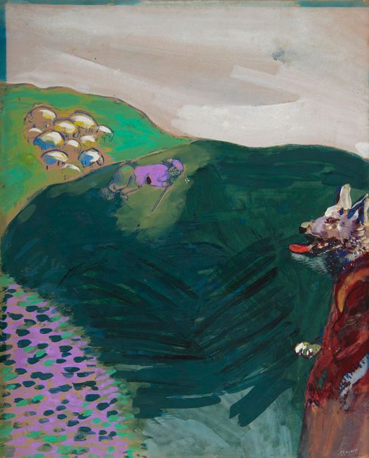 Le loup devenu berger by Marc Chagall contemporary artwork