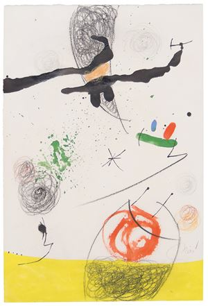Paysage animé by Joan Miró contemporary artwork