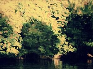 La rivière sous les ombrages 水邊樹影 by Chen Jianzhong contemporary artwork