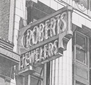 Roberts Jewelers (Vertical) by Robert Cottingham contemporary artwork