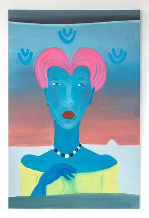 Zandra with the Pink Hair by Barbara Nessim contemporary artwork