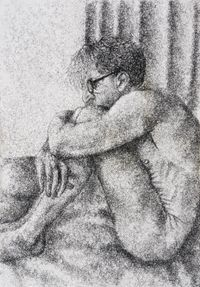Figure Study I by Frances Goodman contemporary artwork works on paper