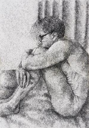 Figure Study I by Frances Goodman contemporary artwork
