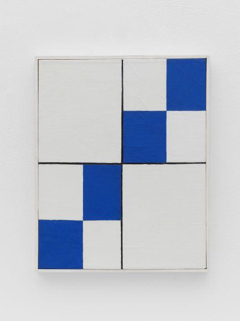 Four Blue Diagonals by Leon Polk Smith contemporary artwork