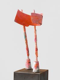 untitled: pinkholder; 2020 lockdown 15 by Phyllida Barlow contemporary artwork sculpture