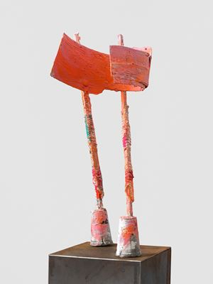 untitled: pinkholder; 2020 lockdown 15 by Phyllida Barlow contemporary artwork