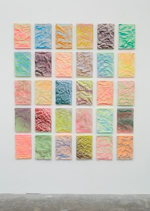 No. 897 Folded Grid by Rana Begum contemporary artwork