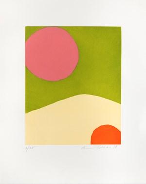 Voyage vers la lune by Etel Adnan contemporary artwork