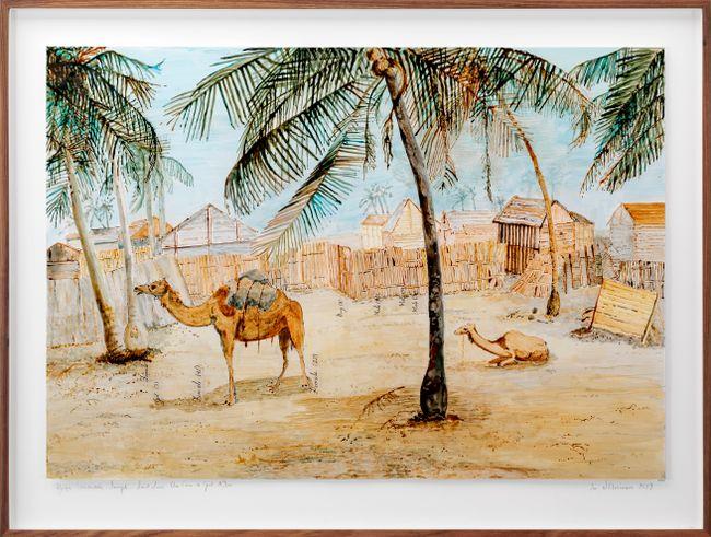 Postcards from Africa: Afrique Occidentale - Senegal - Saint Louis. Un Coin de Guet N'Dar by Sue Williamson contemporary artwork
