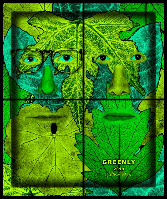 GREENLY by Gilbert & George contemporary artwork