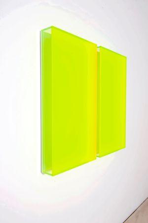 Color satin green Milan by Regine Schumann contemporary artwork