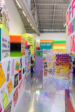 Exhibition view: Lauren Halsey, David Kordansky Gallery, Los Angeles (25 January–14 March 2020). Courtesy David Kordansky. Photo: Jeff McLane.