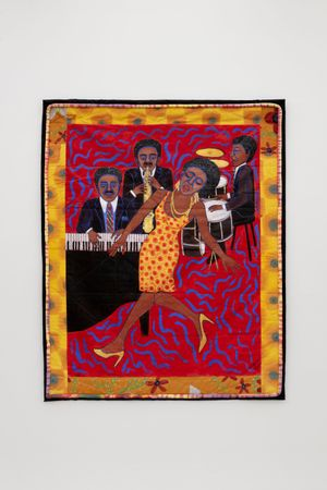 Jazz Stories: Mama Can Sing, Papa Can Blow #4: Nobody Will Ever Love You Like I Do by Faith Ringgold contemporary artwork