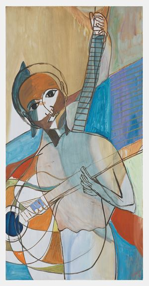 Seated Musician VI by Ficre Ghebreyesus contemporary artwork