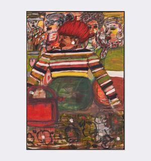 Red Beret by David Koloane contemporary artwork
