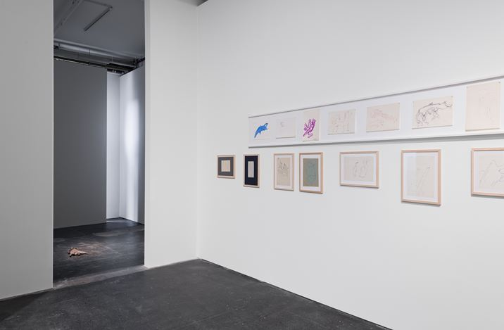 Exhibition view: Group Exhibition,A Tale of Apparitions, Galeria Plan B, Berlin (28 June–3 August 2019). Courtesy Plan B Cluj, Berlin and Galeria Quadro, Cluj. Photo: Trevor Good.