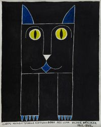 Metagatto by Victor Brauner contemporary artwork painting, works on paper