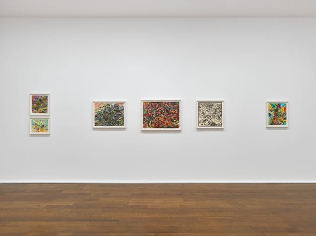 Exhibition view: Jack Whitten, Jack Whitten. Transitional Space. A Drawing Survey, Hauser & Wirth, 69th Street, New York (28 January–4 April 2020). © Jack Whitten Estate. Courtesy the Jack Whitten Estate and Hauser & Wirth. Photo: Genevieve Hanson.