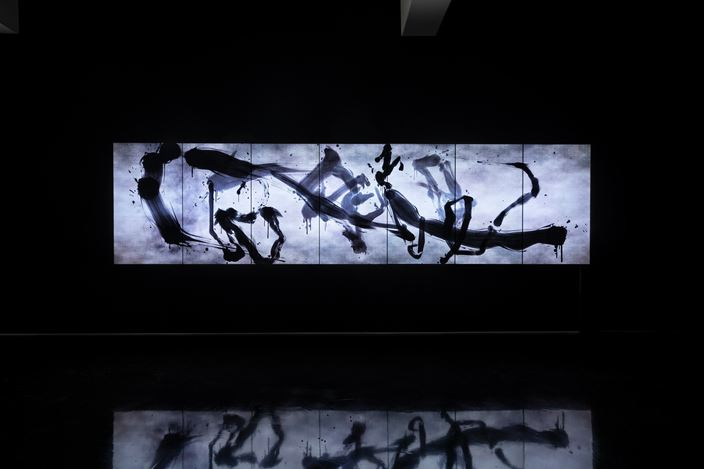 Exhibition view: teamLab, Reversible Rotation, Tolarno Galleries, Melbourne (5 October–2 November 2019). Courtesy Tolarno Galleries.
