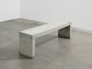 Imprinted Concrete Bench by Sarah Ann Weber contemporary artwork